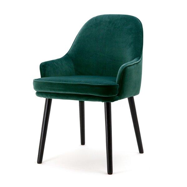 Velvet Upholstered Arm Chair by Eleonora Eleonora