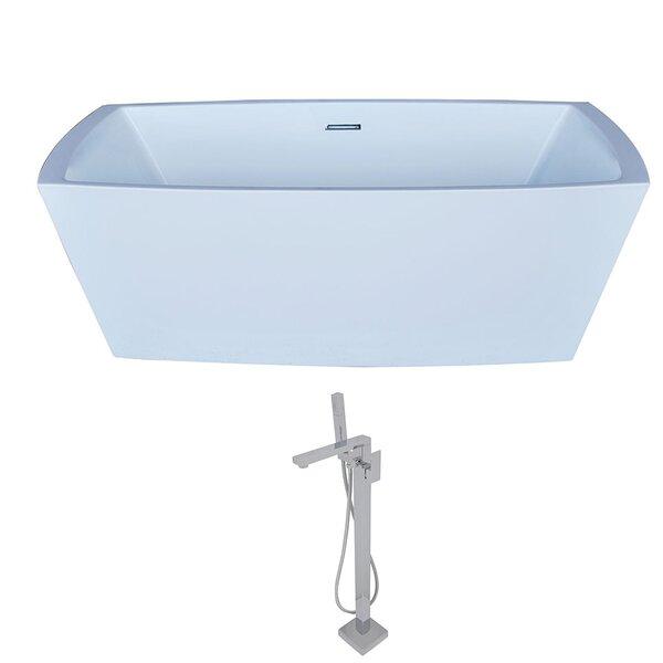 Arthur 67 x 31.5 Freestanding Soaking Bathtub by ANZZI