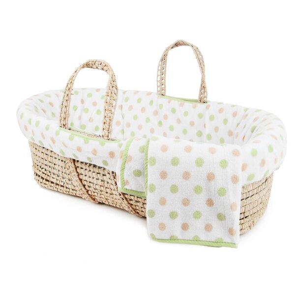 Plush Fleece Moses Basket Bedding Set By Tadpoles.