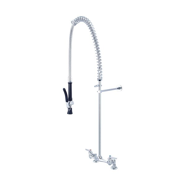 Ledge Double Handle Pre-Rinse Kitchen Faucet by Central Brass