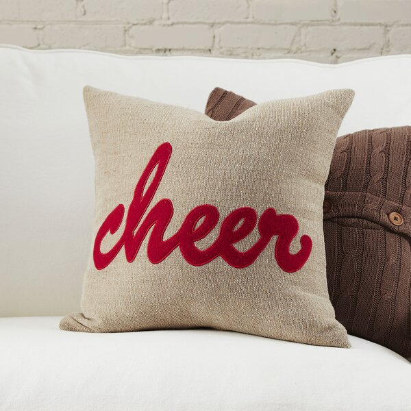 Cheer Pillow Cover by Birch Lane™