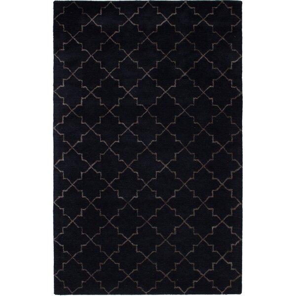 Helsley Hand-Tufted Dark Navy Area Rug by Mercer41