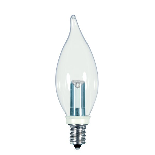 1W E12/Candelabra LED Light Bulb by Satco