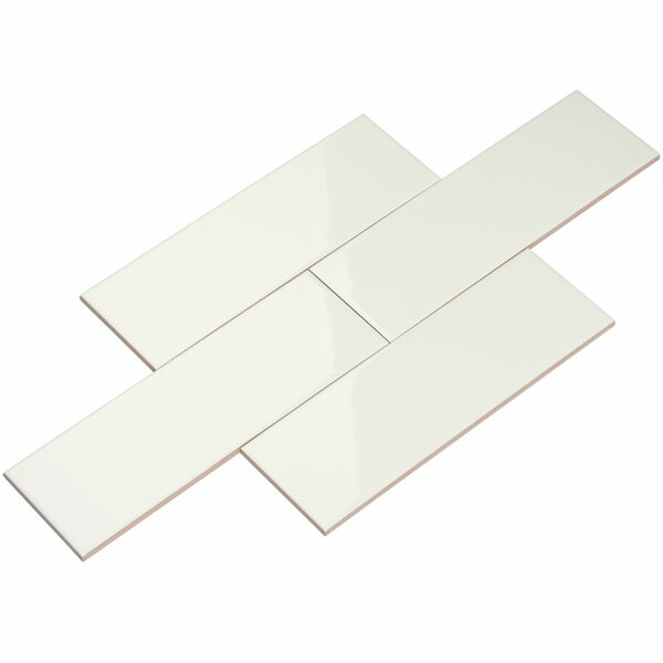4 x 12 Ceramic Subway Tile in White by Giorbello