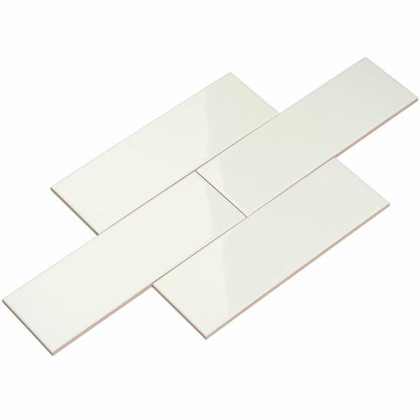 4 x 12 Ceramic Subway Tile in White by Giorbello
