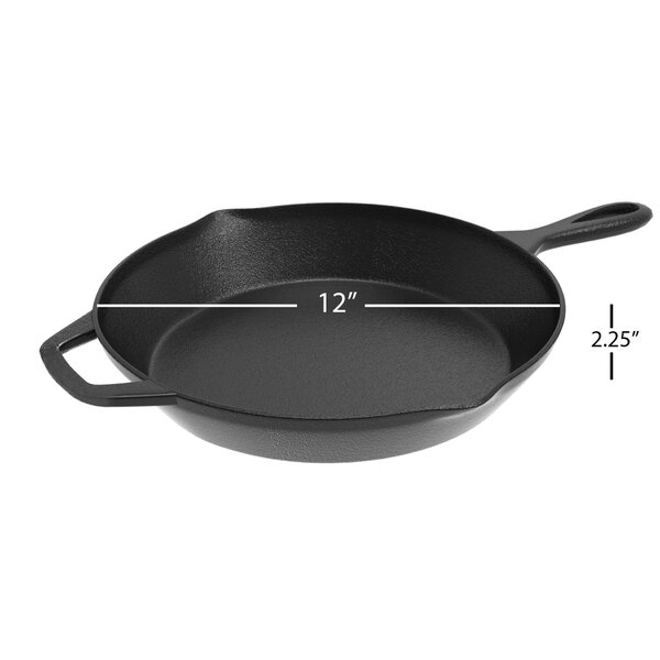 Pre-Seasoned Cast Iron 12 Skillet by Classic Cuisi