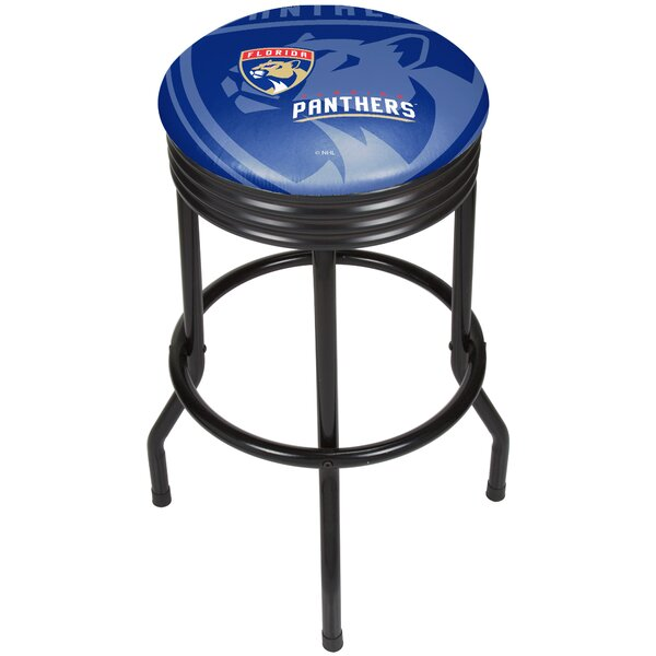 NHL Ribbed 28.5 Swivel Bar Stool by Trademark Global