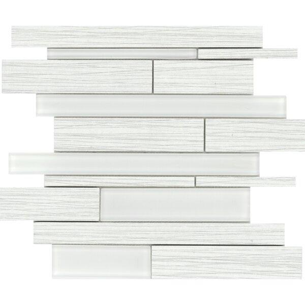 Thread Random Sized Porcelain Mosaic Tile in White by Emser Tile
