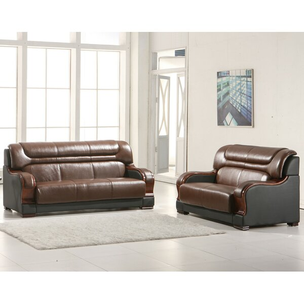 Murphree 2 Piece Leather Living Room Set by Red Barrel Studio