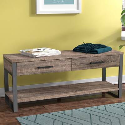 Arsdale Wood Storage Bench
