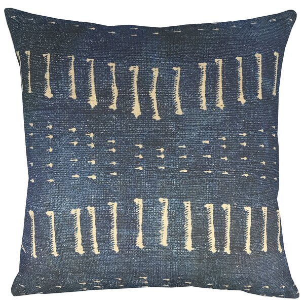 Distressed Indigo Throw Pillow by TheWatsonShop