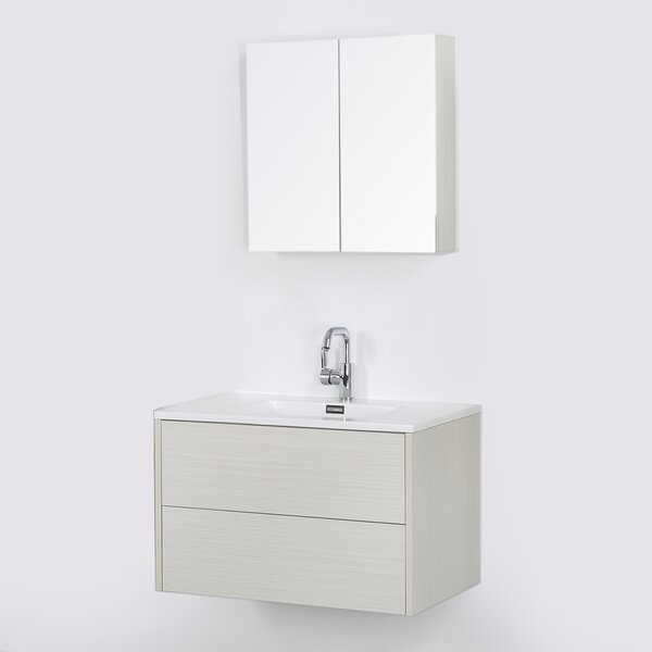 32 Wall Mounted Single Bathroom Vanity Set with Mirror by Streamline Bath