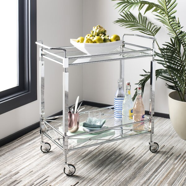 Baynham 2 Tier Rectangle Bar Cart by Mercer41 Mercer41