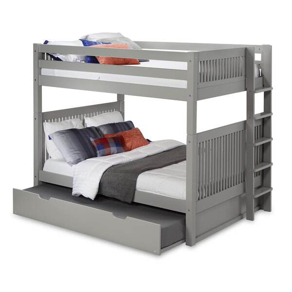 Rabon Full Over Full Bunk Bed with Trundle by Harriet Bee