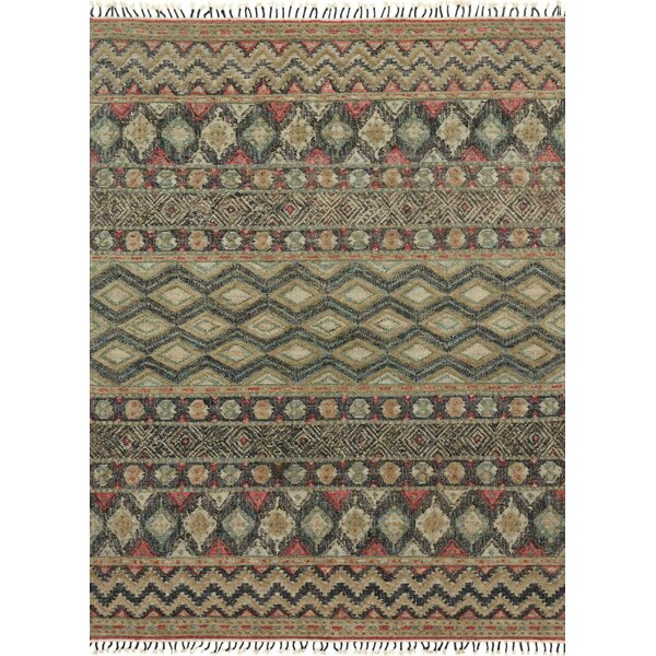 Bentonville Hand-Woven Brown/Green Area Rug by Foundry Select