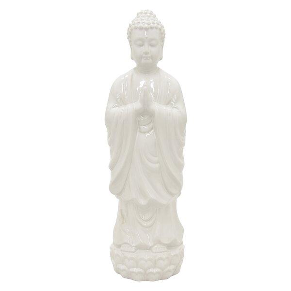 Ulrich Ceramic Buddha Standing Figurine by World Menagerie