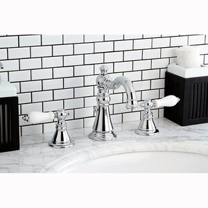 American Patriot Double Handle Widespread Bathroom Faucet with ABS Pop-Up Drain