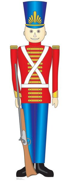 Christmas Toy Soldier Cardboard Stand-Up by Advanced Graphics