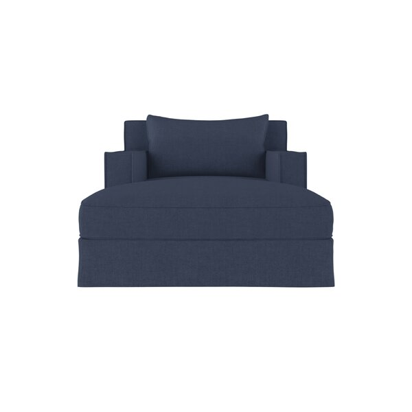 Letendre Linen Chaise Lounge by 17 Stories