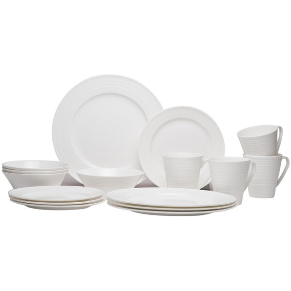 Vanilla Swirl 16 Piece Dinnerware Set by Red Vanilla