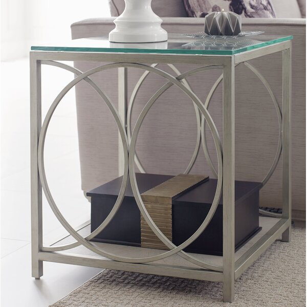 Cinema Glass Top End Table by Rachael Ray Home