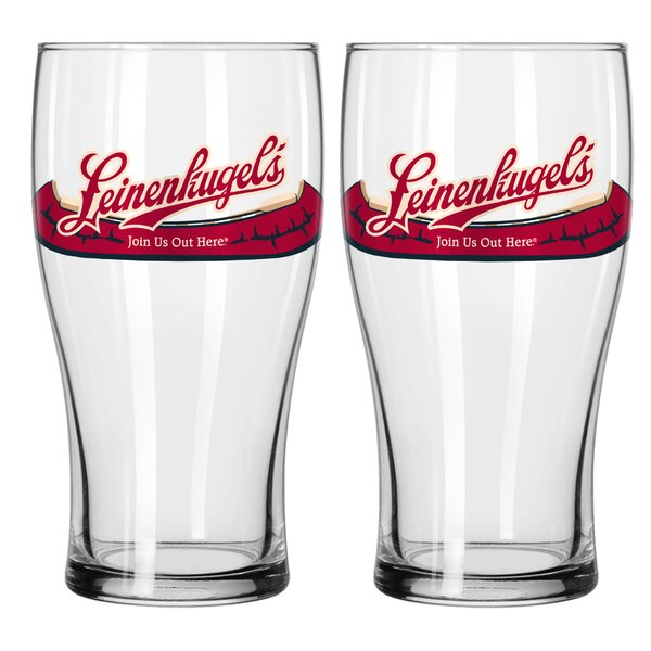 Leinenkugel 11 16 Oz. Glass Pint Glasses (Set of 2) by Boelter Brands