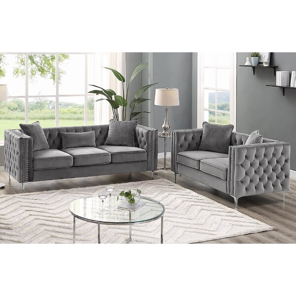 Marti Hickory Modern 2 Piece Living Room Set by House of Hampton