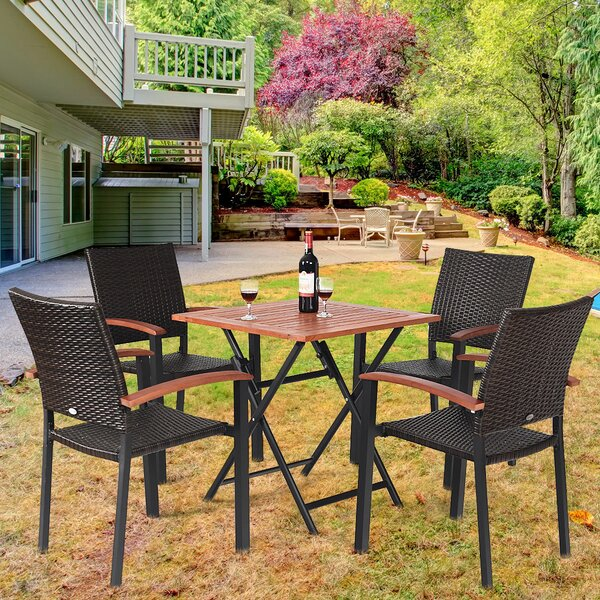 Wiese 5 Piece Dining Set by Bay Isle Home