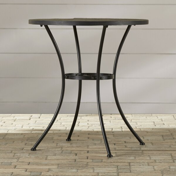 Barker Ridge Round Bistro Table with Slate Top by Alcott Hill