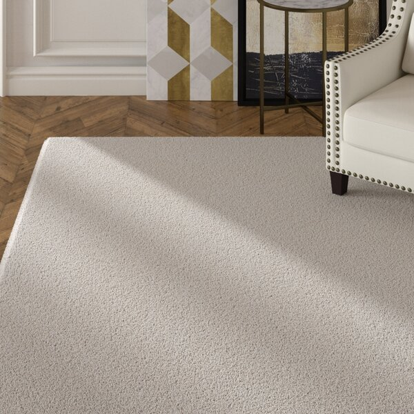 Braun Hand Woven Ivory Area Rug by Rosdorf Park