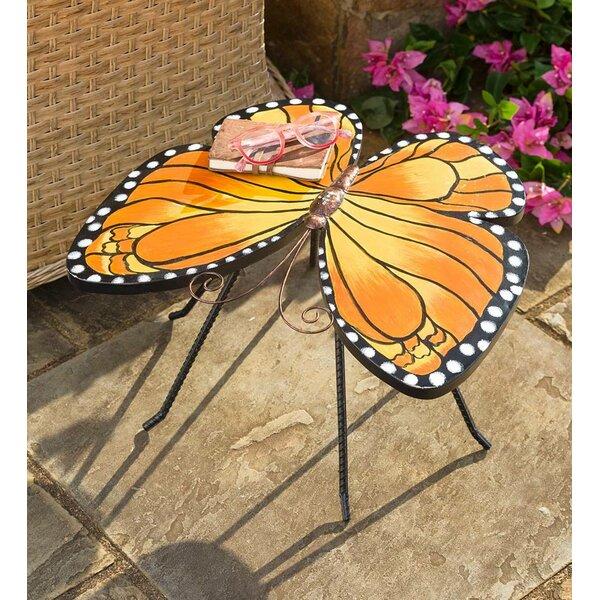 Monarch Butterfly Metal Side Table by Plow & Hearth