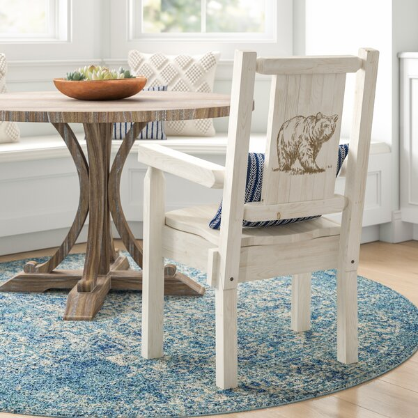 Abella Rustic Captain's Solid Wood Dining Chair by Loon Peak