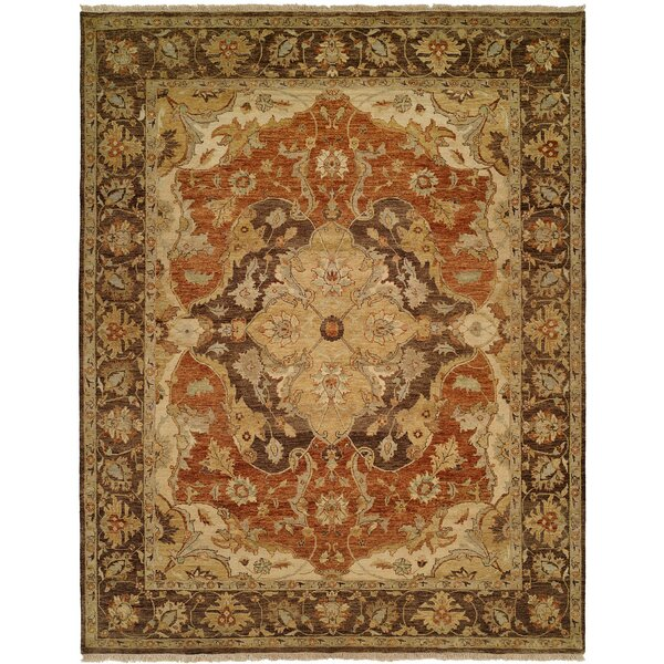 Busan Hand-Knotted Brown/Ivory Area Rug by Wildon Home ®