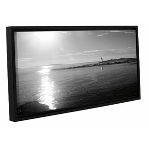 'Lighthouse Sound' Framed Photographic Print in Black/White by Highland Dunes