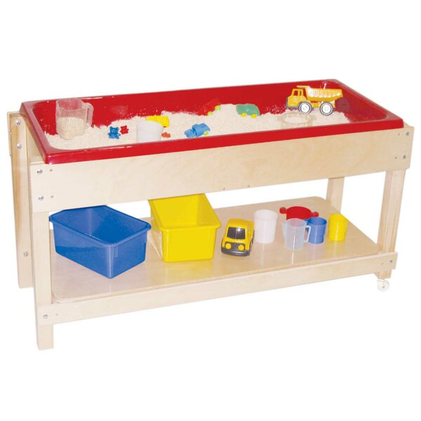 Sand and Water Table with Top/Shelf by Wood Design