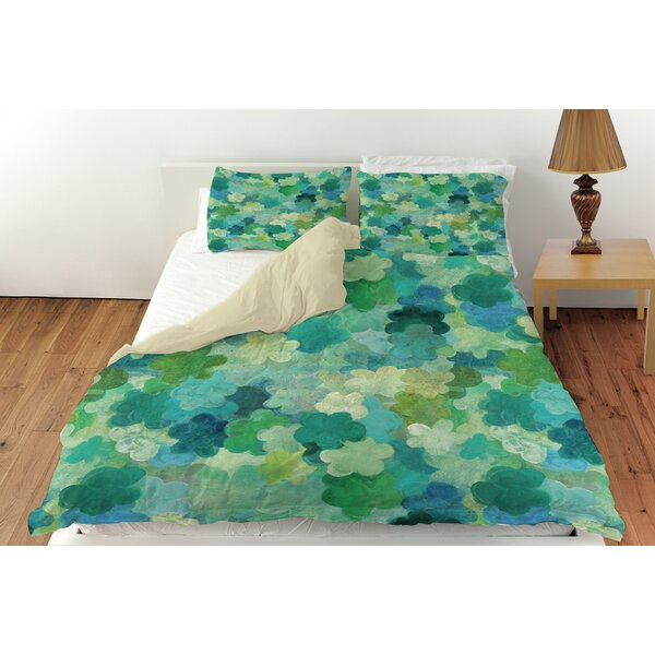 Aqua Bloom Water Blends Duvet Cover Collection by Manual Woodworkers & Weavers