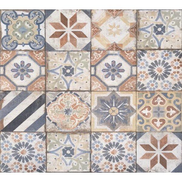 Havana 8 x 8 Porcelain Field Tile in Finca Deco Mix by Tesoro