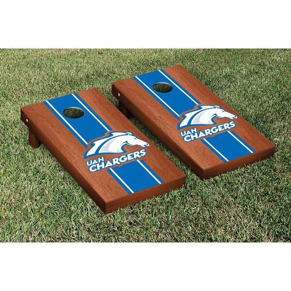NCAA Stained Striped Wooden Cornhole Game Set by Victory Tailgate