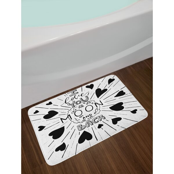 I Love You Bath Rug by East Urban Home