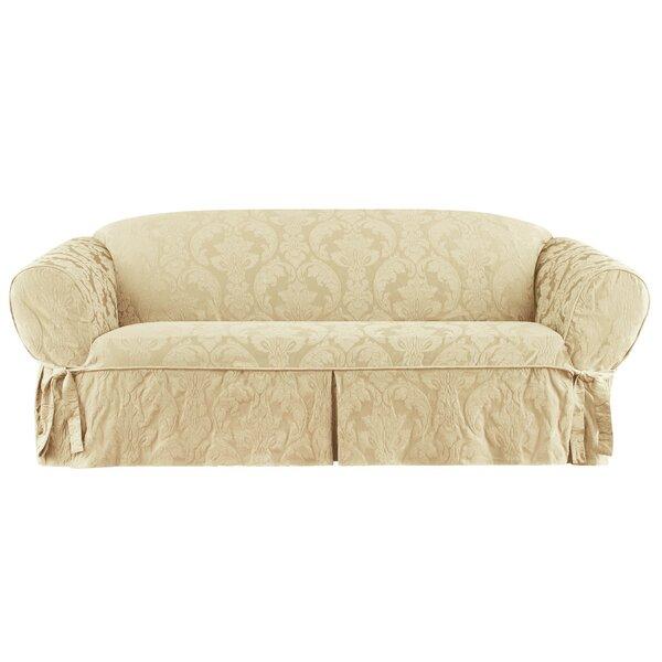 Matelasse Damask Box Cushion Sofa Slipcover by Sure Fit