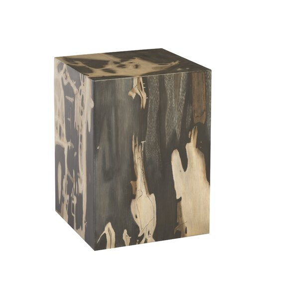 Cast Petrified Wood Accent Stool