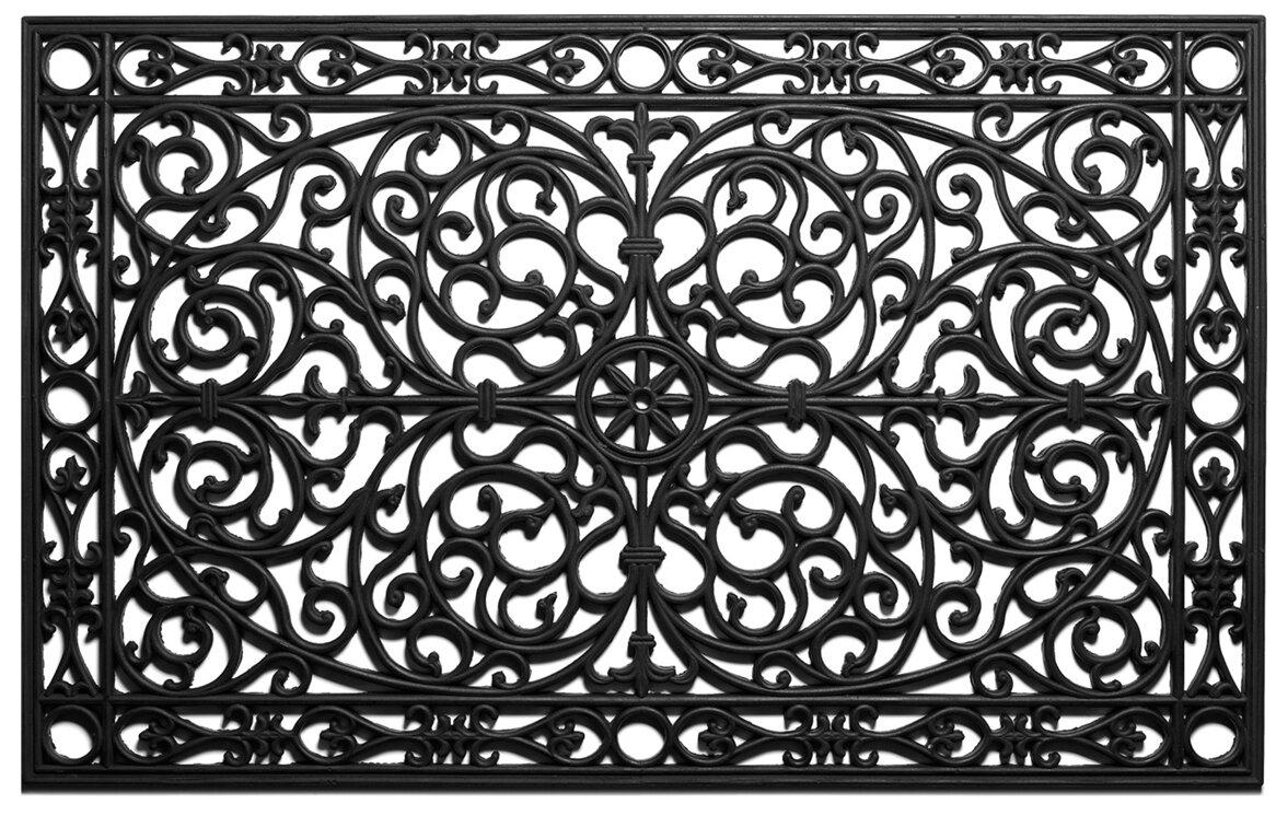 rubber de grill products door doormat mat fleur lis