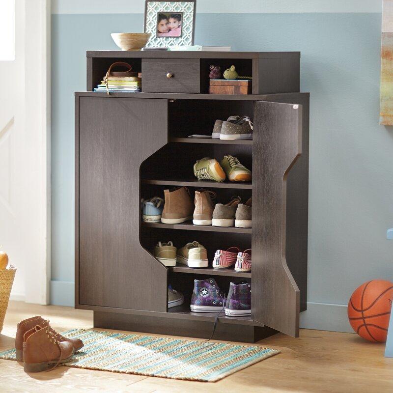 Delightful Redland Redline 20 Pair Shoe Storage Cabinet