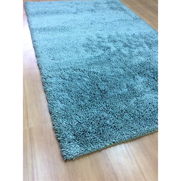 Shag Eyeball Woolen Hand Knotted Ice Blue Area Rug by Eastern Weavers