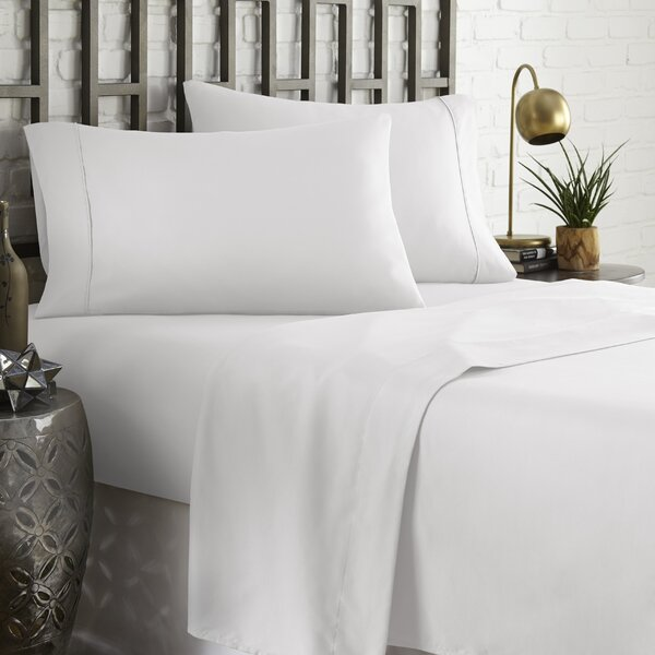 Brookes 1800 Series Platinum Microfiber Sheet Set by Charlton Home