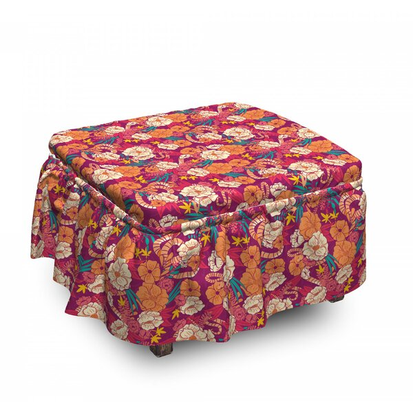 Warm Spring Time Bouquet Ottoman Slipcover (Set Of 2) By East Urban Home