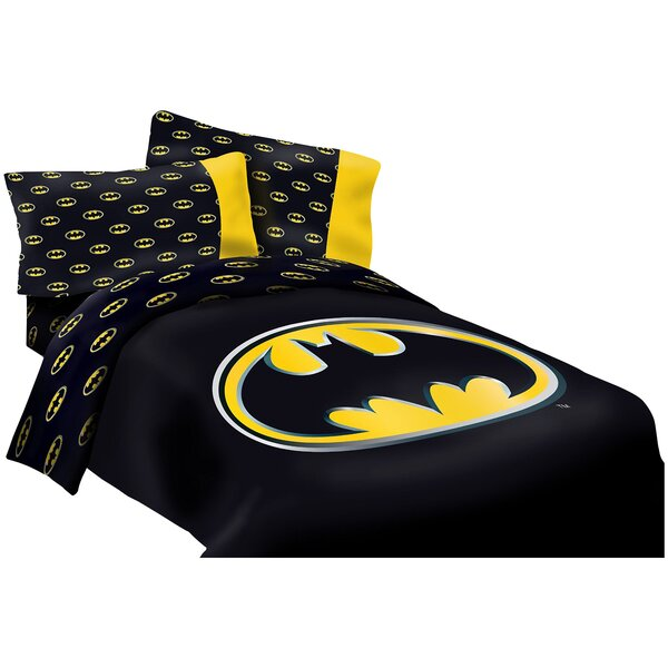Batman Emblem Reversible Super Soft Luxury Comforter Set by Crover
