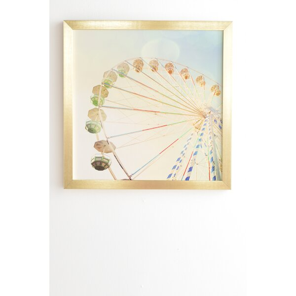 Ferris Wheel Framed Photographic Print by East Urban Home