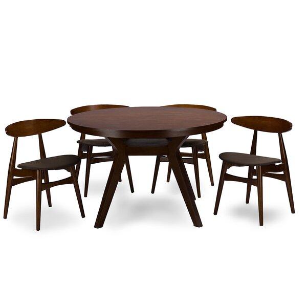 Baxton Studio Flamingo 5 Piece Dining Set by Wholesale Interiors