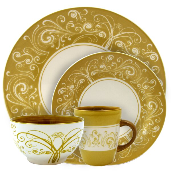 Walthamstow Swirl 16 Piece Dinnerware Set, Service for 4 by Astoria Grand